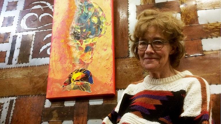 Johanna van Mullekom, ordförande för Konstspaning i Säterbygd.