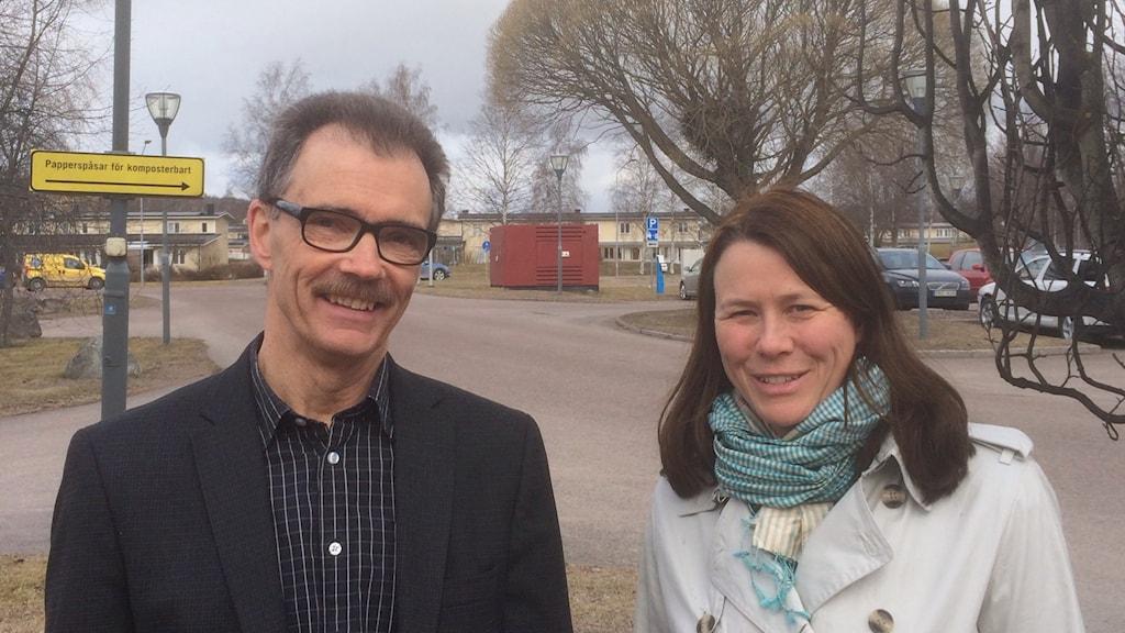 Anders Goop, VD för Borlänge Energi tillsammans med Åsa Romson, klimat- och miljöminister.