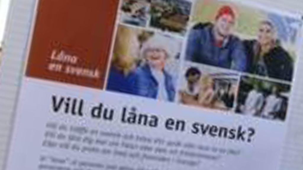 Reklam för att låna en svensk