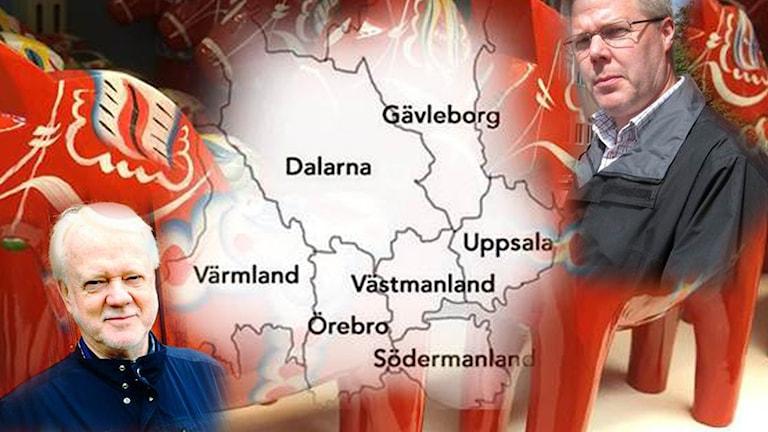 Ronny Svensson, gledbygdsutvecklare, karta storregion, Leif Lindström vänsterpartistiskt kommunalråd i Borlänge