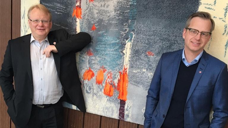 Peter hultqvist, försvarsminister, och mikael Damberg, Närings- och innovationsminister
