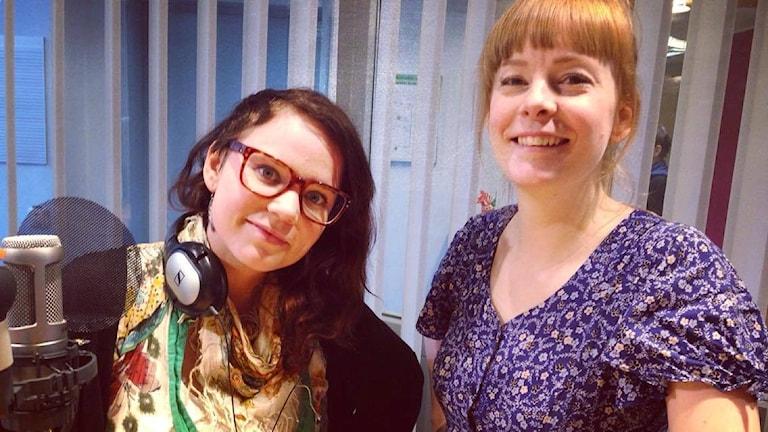 Linda Svensson och Emilia Henriksson från Ladyfestfilm-kollo.