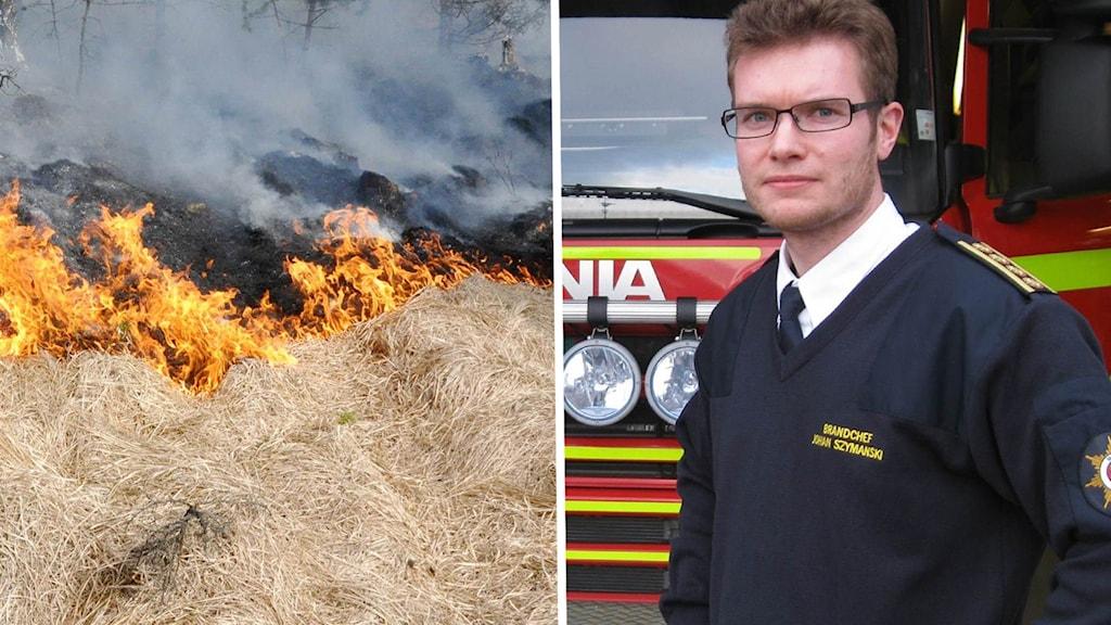 En gräsbrand och Johan Szymanski