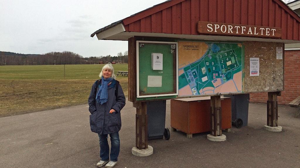 Katarina Nilsson, projektledare för utvecklingen av sportfältet i Borlänge.