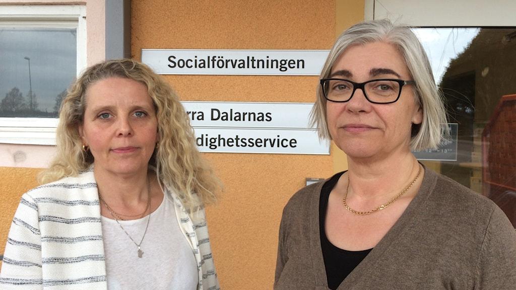 Ewa Byström och Pia Blomstedt på Mora kommun.
