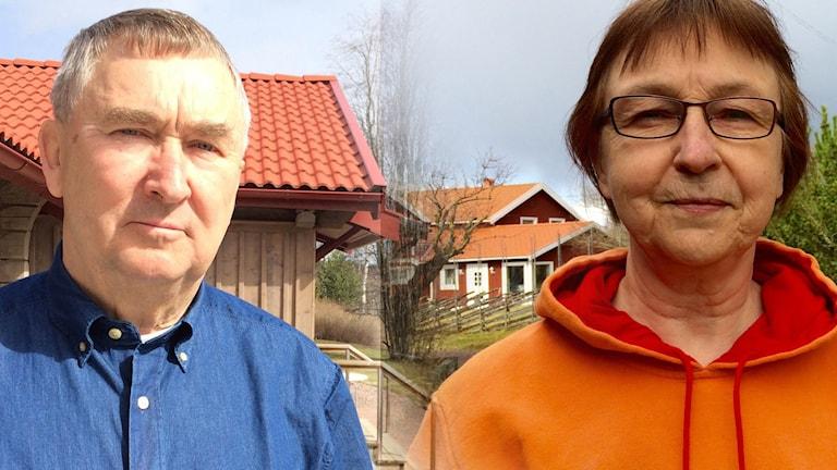 Lars-Erik Kalles (S) och Anna-Maja Roos (C)