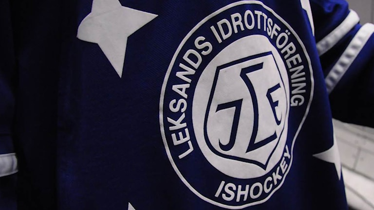 Bild på Leksands IF:s logga på en hockeytröja