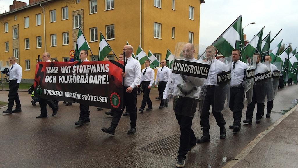 Nordiska motståndsrörelsens demonstrationståg