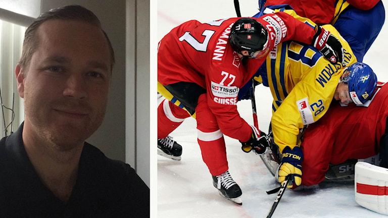 Jens Bergenström och bild från hockey-VM