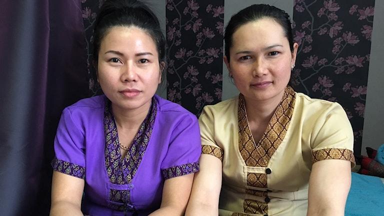 Nongnut Buaraphan och Bunsong Phaladon är trötta på männen som frågar efter sexuella tjänster i samband med massage.