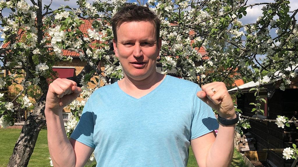 Johan Eriksson, vinnare av dalafinalen av P4 Nästa 2021.