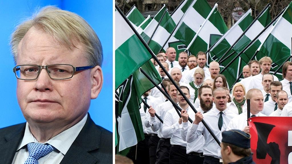 Peter Hulqvist och medlemmar i Nordiska motståndsrörelsen
