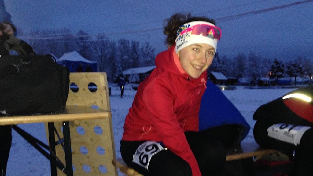 Bella Lagrange förbereder sig inför loppet 20 mil på Runn.