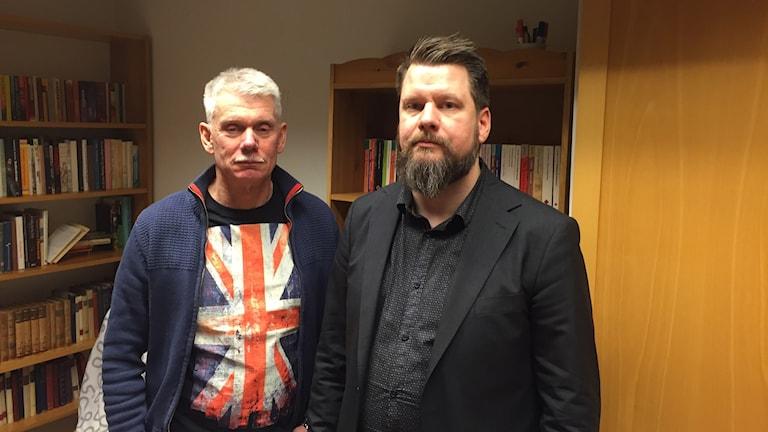 Tyko Persson och Rikard Rudolfsson, båda Vänsterpartister i Borlänge.