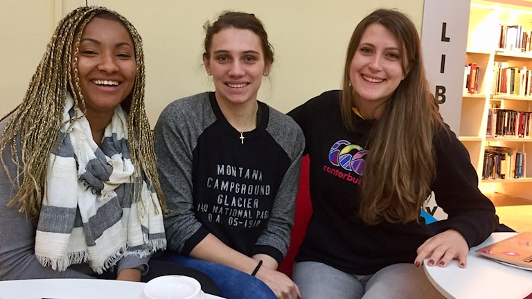 Esther Cole, Morgan Segura och Estelle Hisler studerar alla på Högskolan Dalarna.