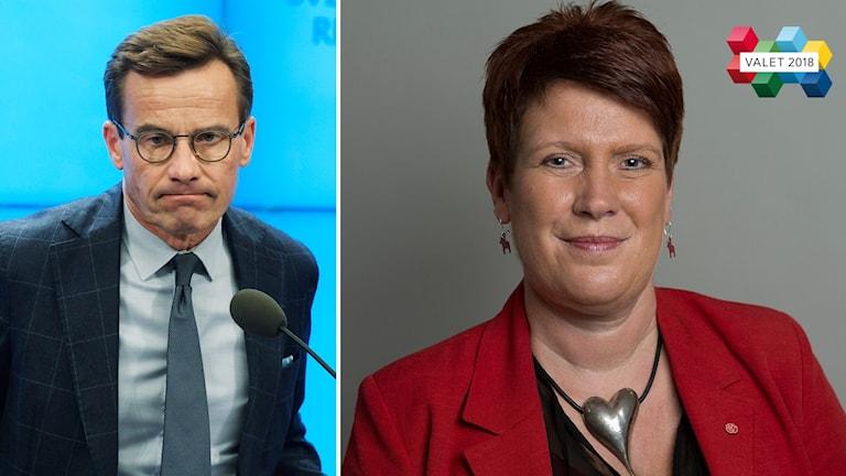 Politiker, Ulf Kristersson M och Maria Strömkvist S.