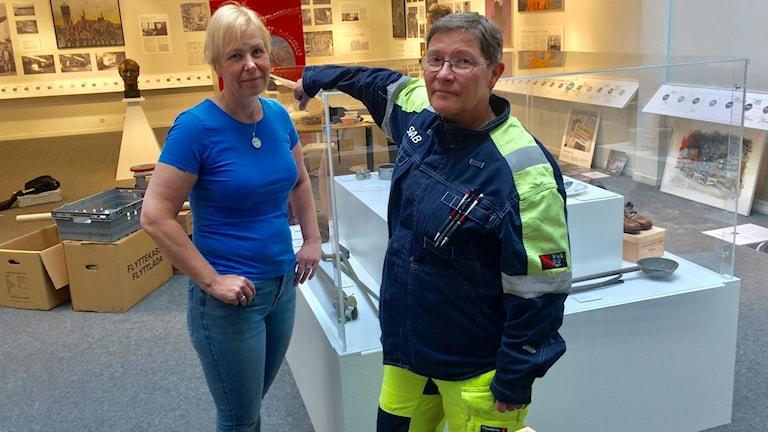 Anna Östlund, kommunikationsansvarig vid SSAB, och Ingrid Hedman som arbetat vid SSAB sedan 1974.