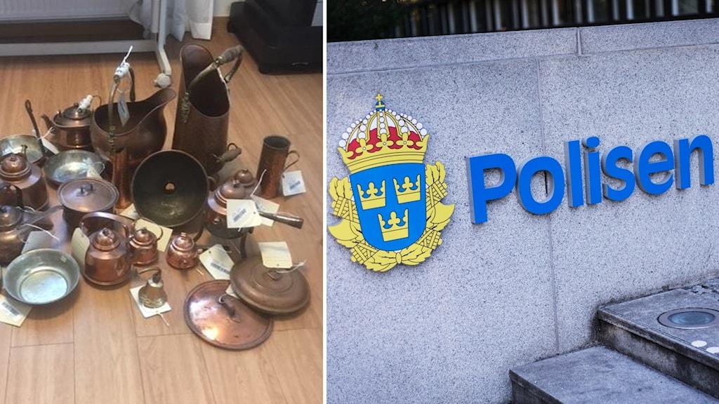 Polisens fynd i Dalarna.