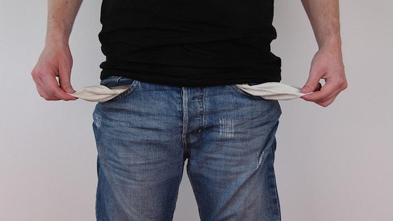 Slut på pengar, pank, januari, fattig