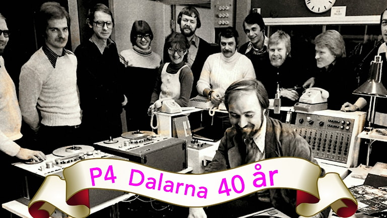 P4 Dalarna starting out in 1977.