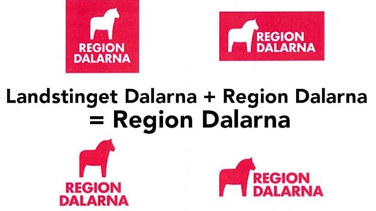 Logotyper för nya Region Dalarna.