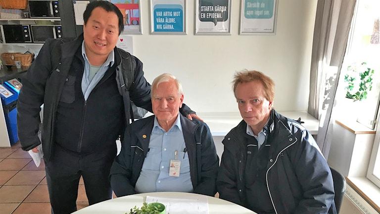 Bussförarna Ville Lindkvist, Janne Lindkvist och Kurt Börjesson.