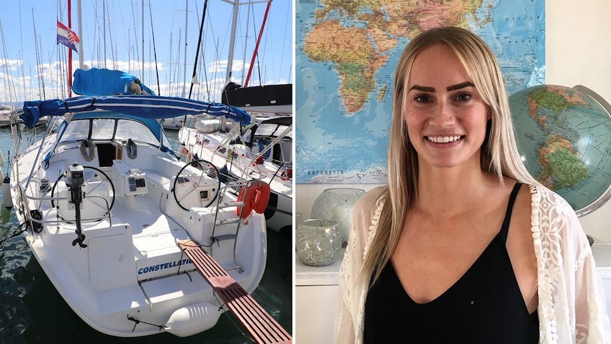Båten Emelie Knuts ska segla med under två år