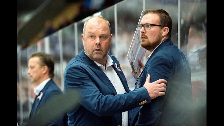 Leksands tränare Per-Erik Johnson och Gereon Dahlgren.