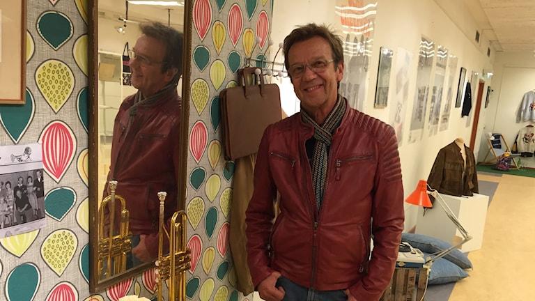 Björn Skifs på utställningen i Vansbro som hyllar honom.