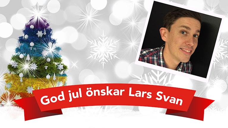 Lars Svan och en julgran