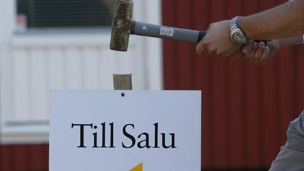 Hus till salu. Foto Fredrik Sandberg, Scanpix.