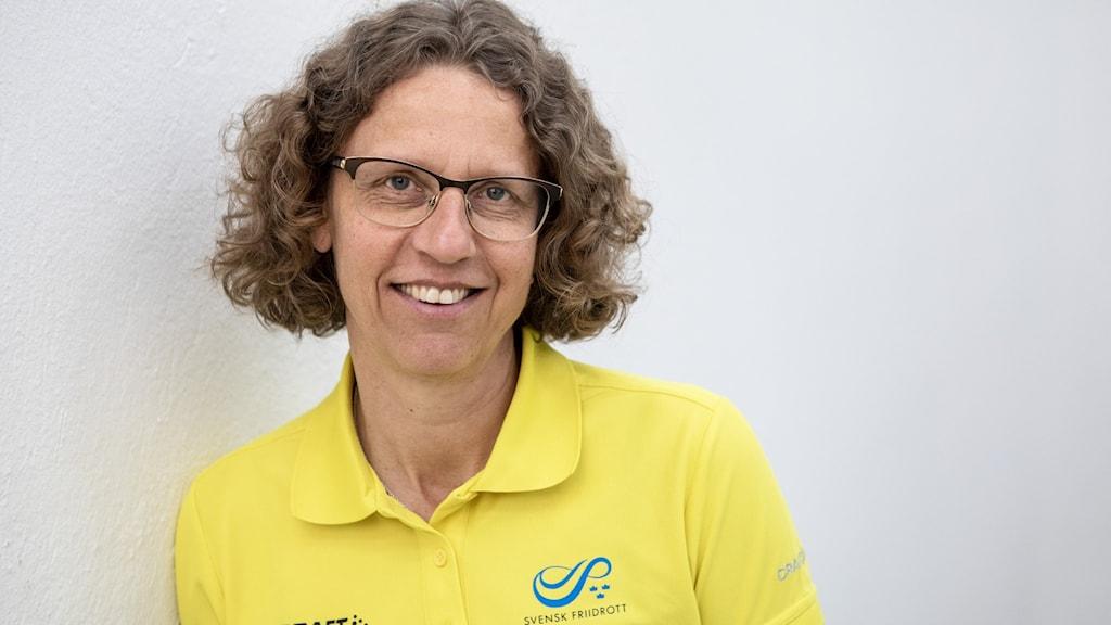 Karin Torneklint som är förbundskapten för friidrottsförbundet.