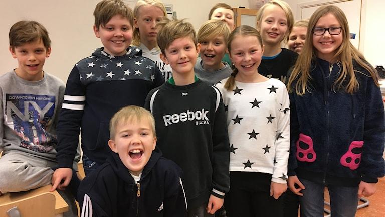 Elever som går på Ullvi skola 5-6 A, Leksand.
