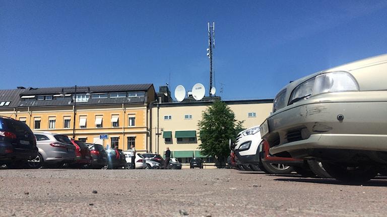 En parkeringsplats i Falun