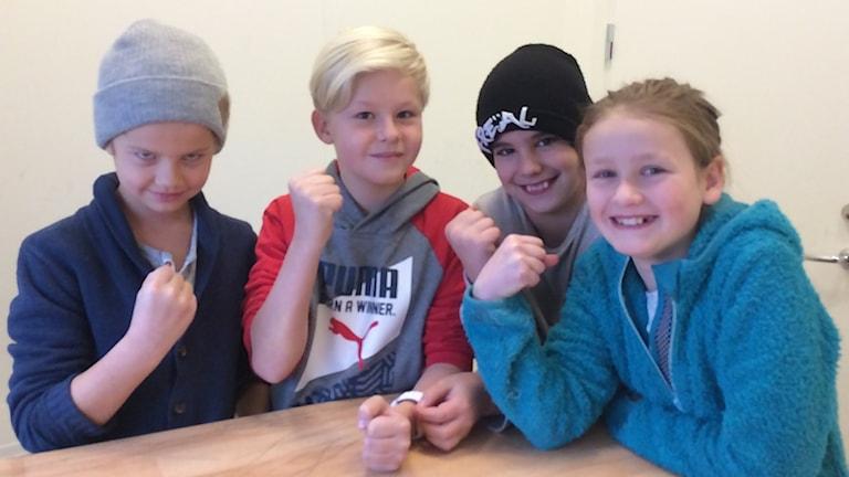 Elever på Söderbaumska skolan.