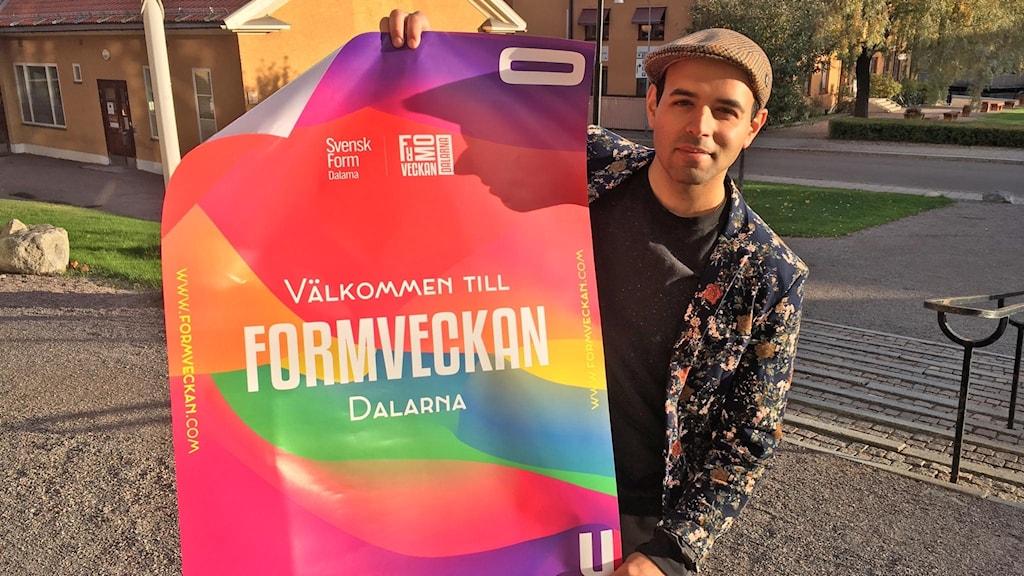 Omid Massali.  vice ordförande för Svensk form i Dalarna,