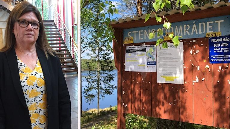Gun-Britt Ström, åklagare och en bild från Stensjön