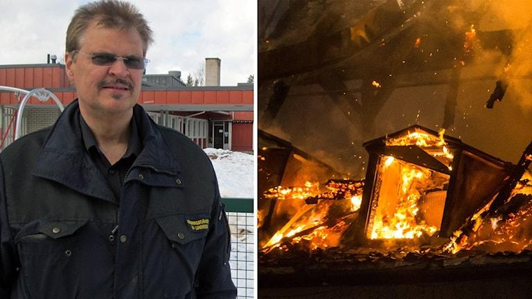 Vansbros räddningschef Bo Lundberg och en husbrand.