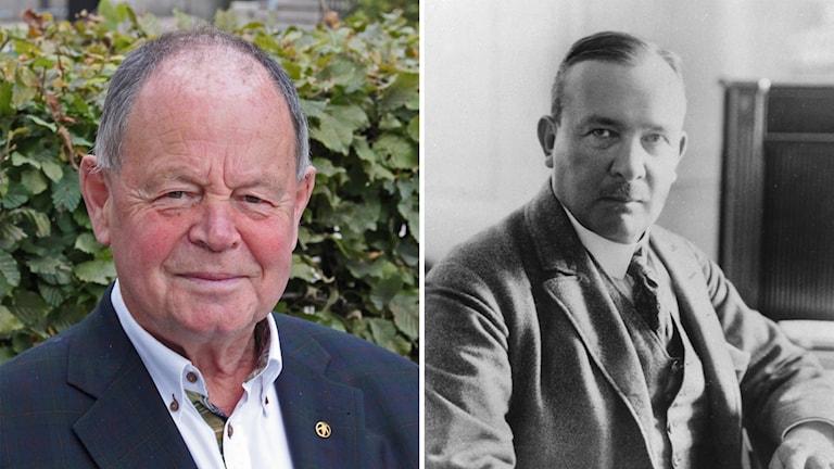 Christer Åsberg, årets Karlfeldtpristagare, och Erik Axel Karlfeldt.