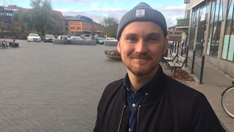 Emil Gustavsson från organisationen Män för jämställdhet.