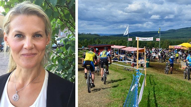 Sandra Lindmark från Djurås, och en bild från Cykelvasan