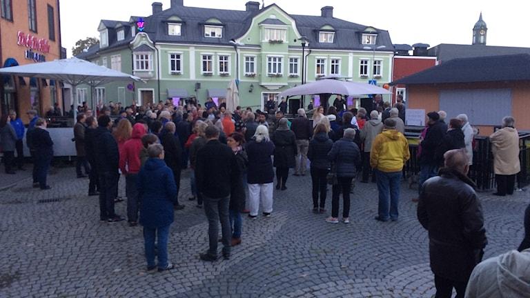 Manifestationen i Hedemora.