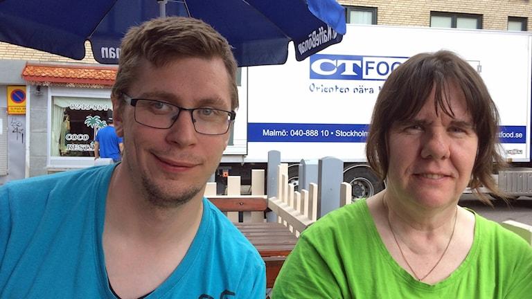 Tobias Åkerstein och Maritha Gustafsson jobbar på daglig verksamhet i Borlänge i Dalarna.