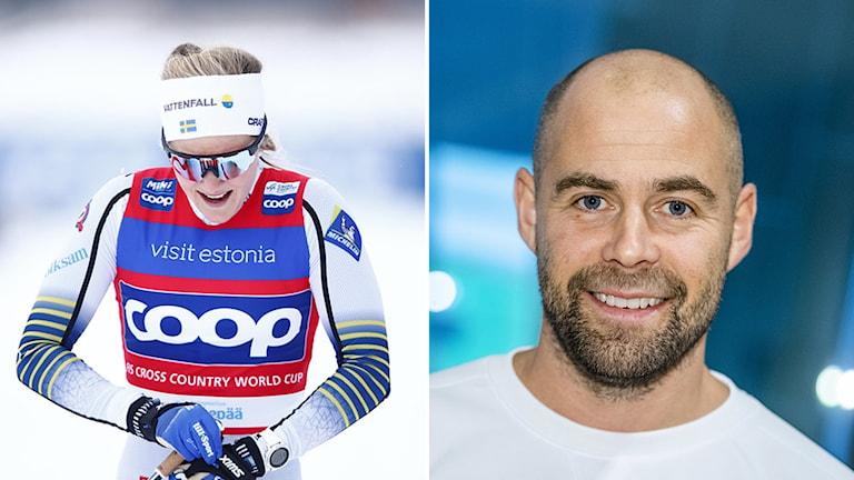 Stina Nilsson, skidåkare, och Rikard Grip, skidlandslagets förbundskapten