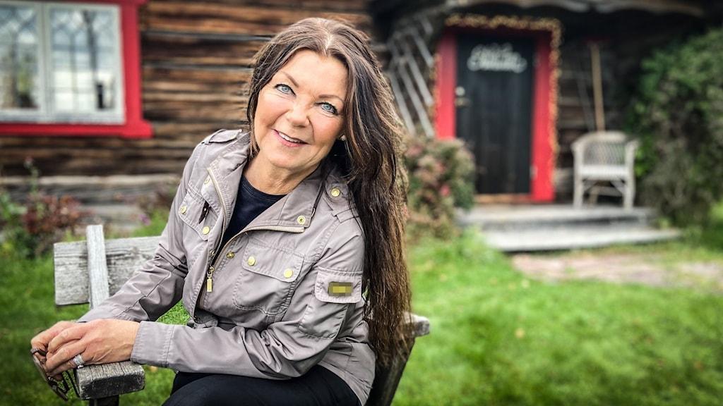 Christine Olsson, ägare Åmåsängsgården utanför Mora.