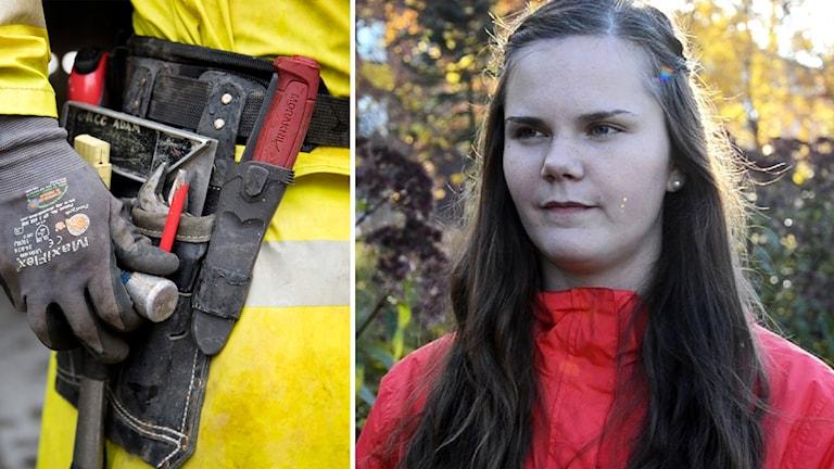 Snickarbälte och Paulina Johansson från Säter
