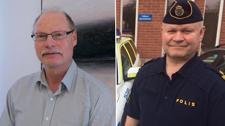 Montage med kommunpolisen Erik Gatu i Borlänge, och Kenneth Persson (S) ordförande i Brottsförebyggande rådet i Borlänge.