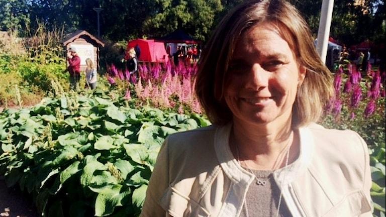 Biståndsministern och miljöpartisten Isabella Lövin
