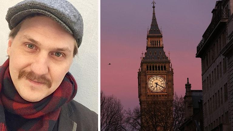 Mika Olavi och en bild från London