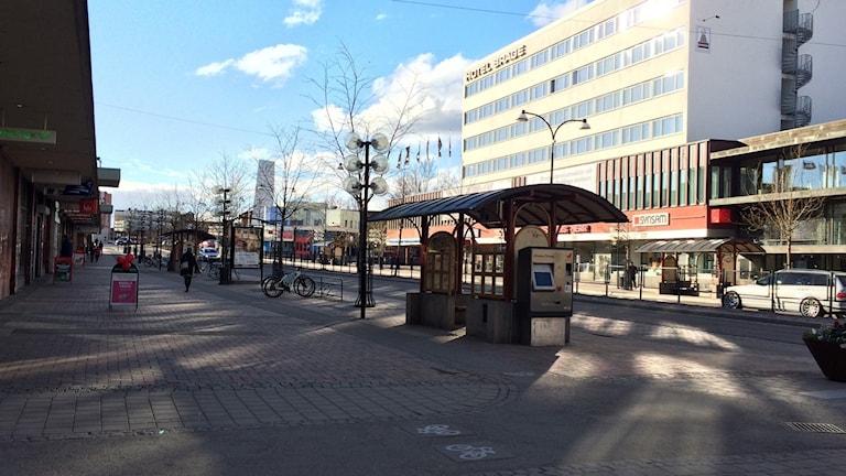 Stationsgatan i Borlänge centrum.